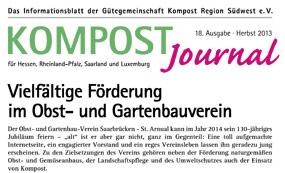 Kompost Journal | Herbst 2013 - Ausgabe Nr. 18