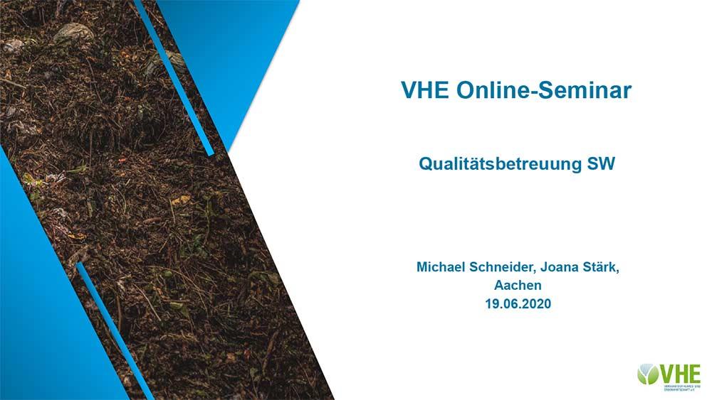 VHE Online-Seminar, Kompost in der DüV-2020